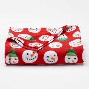 NWT Christmas Snowmen Fleece Throw Blanket